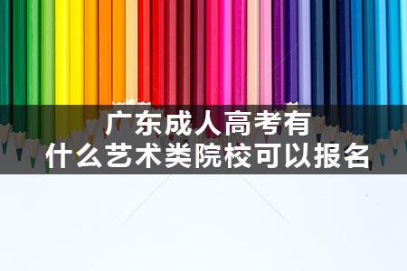 广东成人高考有什么艺术类院校可以报名