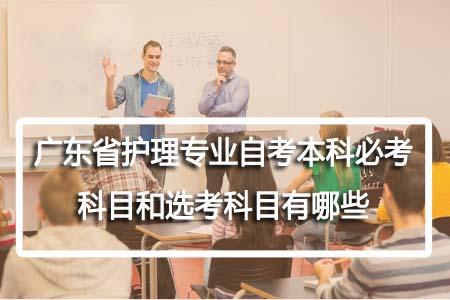 广东省护理专业自考本科必考科目和选考科目有哪些