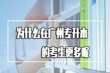 为什么在广州专升本的考生更多呢?盲目报考吗?