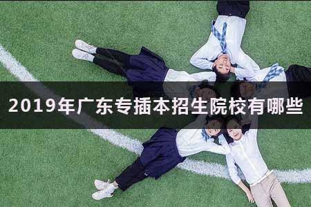 2020年广东专插本招生院校有哪些