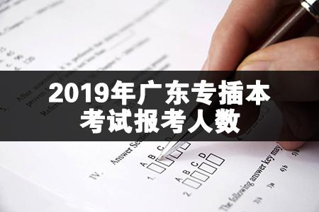 2020年广东专插本考试报考人数