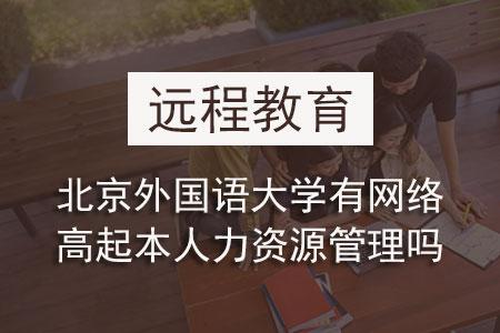 北京外國語大學有網絡高起本人力資源管理嗎