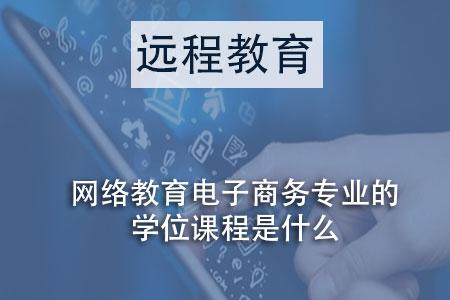 网络教育电子商务专业的学位课程是什么