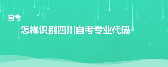怎样识别四川自考专业代码