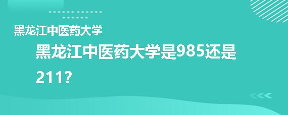 黑龙江中医药大学是985还是211