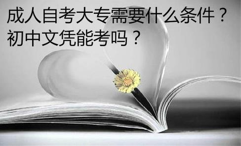 成人自考大專需要什么條件?初中文憑能考嗎?