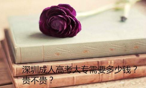 深圳成人高考大專需要多少錢?貴不貴?