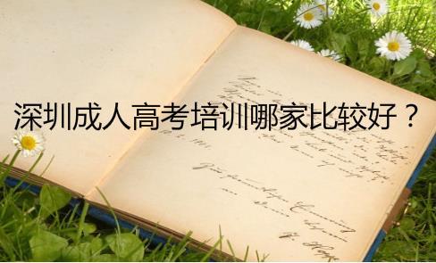 深圳成人高考培訓機構哪家比較好