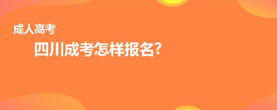 四川成考怎样报名