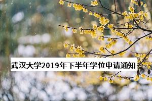 武汉大学2020年下半年学士学位申请工作的通知