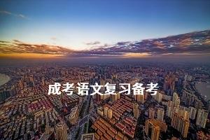 成考语文现代文阅读练习(二)