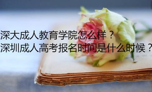 深大成人教育学院怎么样?深圳成人高考报名时间是什么时候