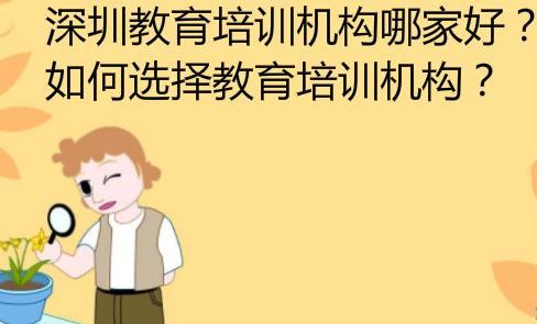 深圳教育培训机构哪家好?如何选择教育培训机构