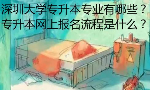 深圳大学专升本专业有哪些?网上报名流程是什么