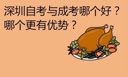 深圳自考和成考哪个好?哪个更有优势