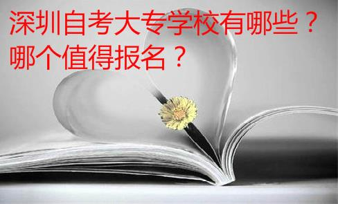 深圳自考大专学校有哪些?哪个值得报名