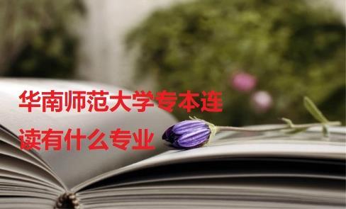 华南师范大学专本连读有什么专业